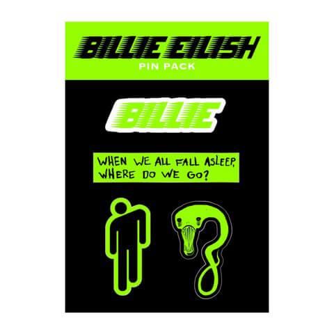 √When We All Fall Asleep von Billie Eilish - Pin - Set jetzt im Bravado Shop