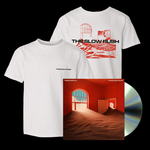 √The Slow Rush (Ltd. Bundle: CD + T-Shirt) von Tame Impala - CD Bundle jetzt im Bravado Shop