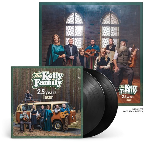 √25 Years Later (Ltd. Edition Vinyl) von The Kelly Family - 2LP jetzt im Bravado Shop