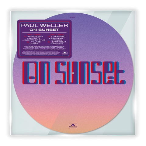 On Sunset (Ltd. Picture Disc) von Paul Weller - LP jetzt im Bravado Shop