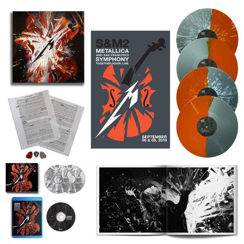 √S&M2 (Ltd. Deluxe Box - 4LPs, BluRay & more) von Metallica - Box jetzt im Bravado Shop