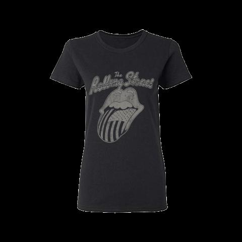 √Black & White USA Script von The Rolling Stones - Girlie Shirt jetzt im Bravado Shop