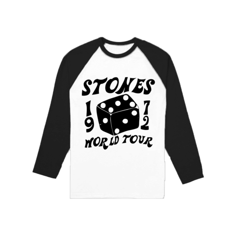 √1972 Dice von The Rolling Stones - Longsleeve 3/4 Raglan jetzt im Bravado Shop