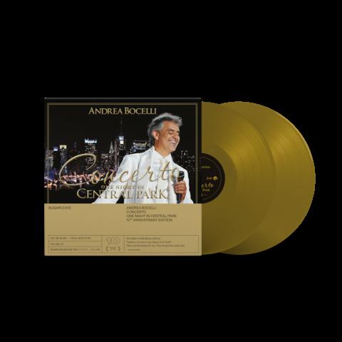 Concerto - One Night In Central Park - 10th Anniversary (Limited 180g Gold 2LP) von Andrea Bocelli - 2LP jetzt im Bravado Store