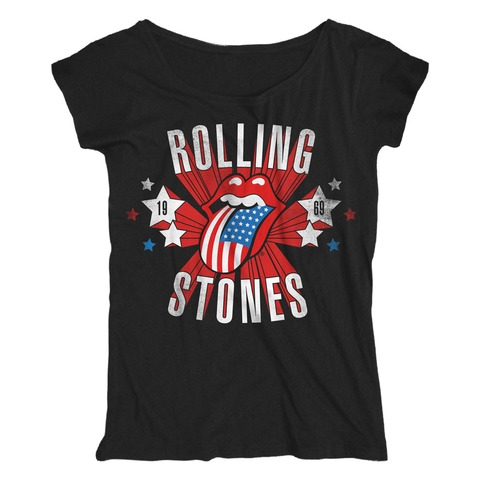 √Star Spangled Tongue von The Rolling Stones - Loose Fit Girlie Shirt jetzt im Bravado Shop