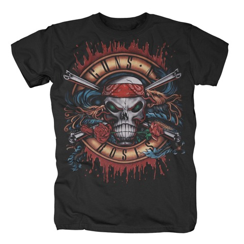 √Green Light Skull von Guns N' Roses - T-Shirt jetzt im Bravado Shop