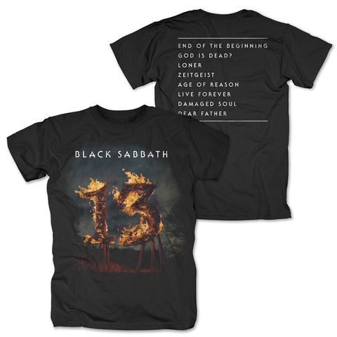√13 Tracklist von Black Sabbath - T-Shirt jetzt im Bravado Shop