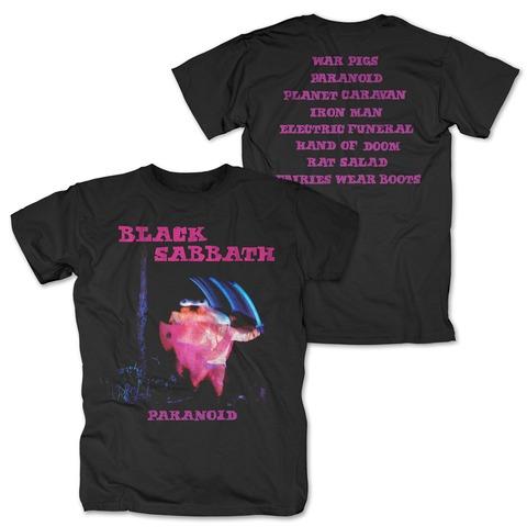 √Paranoid Tracklist von Black Sabbath - T-Shirt jetzt im Bravado Shop