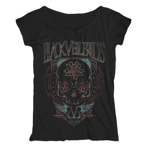 √Skull Flames von Black Veil Brides - Loose Fit Girlie Shirt jetzt im Bravado Shop