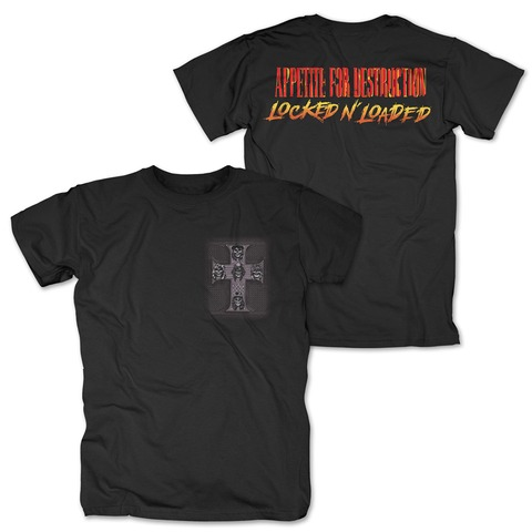 √Locked N Loaded Cross von Guns N' Roses - T-Shirt jetzt im Bravado Shop