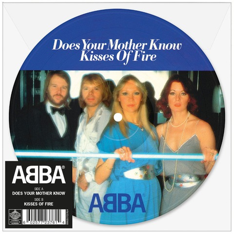 """Does Your Mother Know (Limited 7"""" Picture Disc) von ABBA - Picture Single jetzt im Bravado Store"""