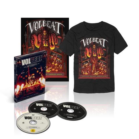 √Let's Boogie! Live (CD/DVD/T-Shirt/Poster Bundle) von Volbeat - CD jetzt im Bravado Shop