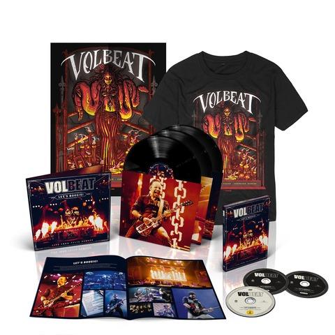 √Let's Boogie! Live (Vinyl/CD/DVD/T-Shirt/Poster Bundle) von Volbeat - LP jetzt im Bravado Shop