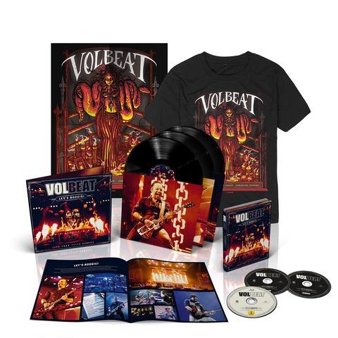 √Let's Boogie! Live (Vinyl/CD/BluRay/T-Shirt/Poster Bundle) von Volbeat - LP jetzt im Bravado Shop