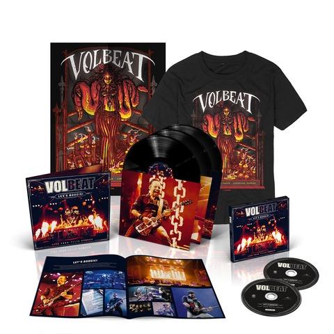 √Let's Boogie! Live (Vinyl/CD/T-Shirt/Poster Bundle) von Volbeat - LP jetzt im Bravado Shop