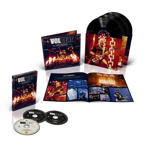 √Let's Boogie! Live (Vinyl/CD/DVD Bundle) von Volbeat - LP jetzt im Bravado Shop