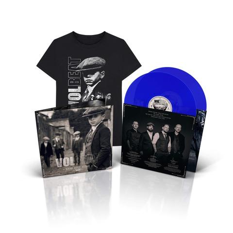 √Rewind, Replay, Rebound (Ltd. Blue 2LP & T-Shirt Bundle, Größe L) von Volbeat - LP Bundle jetzt im Bravado Shop