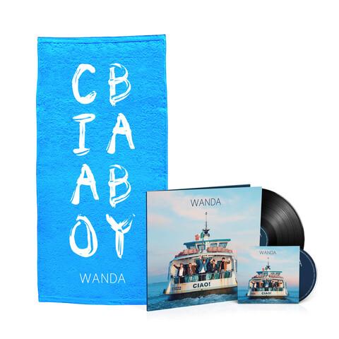 √Ciao! (Vinyl inkl. CD + Duschtuch - limitierte Auflage) von Wanda - LP Bundle jetzt im Bravado Shop