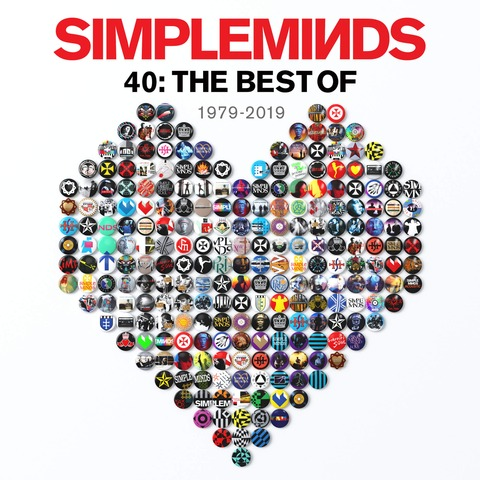 √40: The Best Of 1979-2019 (3CD) von Simple Minds -  jetzt im Bravado Shop