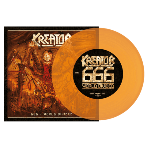 666 World Divided / Checkmate (Ltd. Orange Split 7'' Vinyl) von Kreator & Lamb of God - LP jetzt im Bravado Shop
