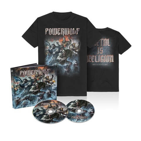 √Best Of The Blessed (Ltd. Bundle 2CD Mediabook + T-Shirt) von Powerwolf - CD Bundle jetzt im Bravado Shop