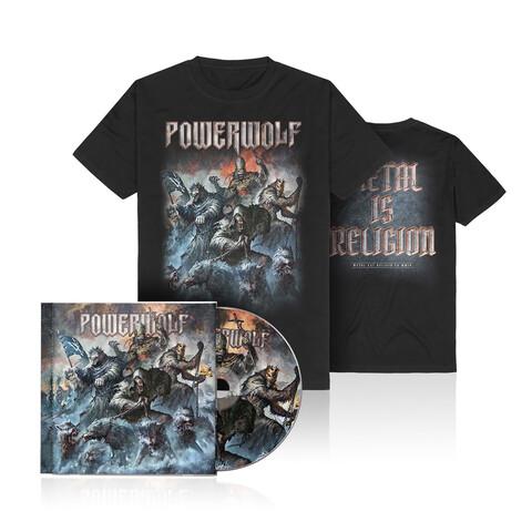 √Best Of The Blessed (Ltd. Bundle CD + T-Shirt) von Powerwolf - CD Bundle jetzt im Bravado Shop