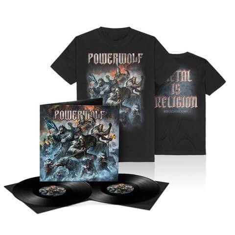 Best Of The Blessed (Ltd. Bundle LP + T-Shirt) von Powerwolf - LP Bundle jetzt im Bravado Shop