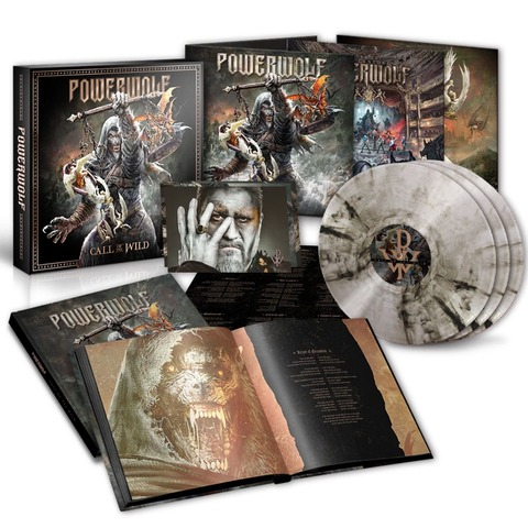 Call Of The Wild (Ltd. 3LP Vinyl Box - Clear/Black Marbled) von Powerwolf - 3LP Vinyl Box jetzt im Bravado Shop