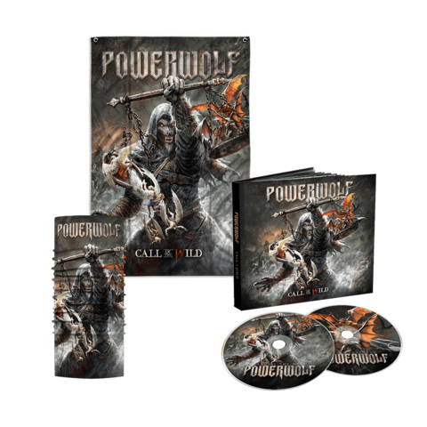 Call Of The Wild (2CD Mediabook + Flagge + Funktionstuch) von Powerwolf - CD Bundle jetzt im Bravado Shop