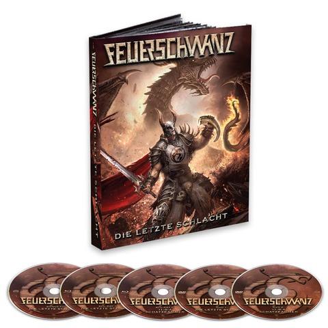 Die Letzte Schlacht (Ltd. Mediabook) von Feuerschwanz - 2BR/2DVD/CD jetzt im Bravado Store