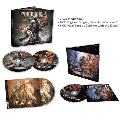 Call Of The Wild (2CD Mediabook) + Dancing With The Dead (Single-CD) + Beast Of Gevaudan (Single-CD) von Powerwolf - CD-Bundle jetzt im Bravado Store