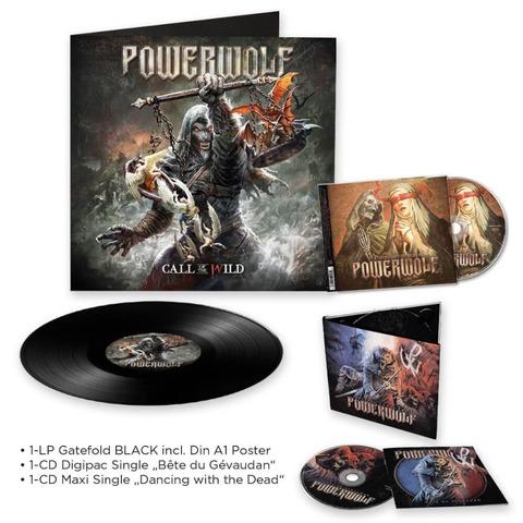 Call Of The Wild (LP) + Dancing With The Dead (Single-CD) + Beast Of Gevaudan (Single-CD) von Powerwolf - LP-Bundle jetzt im Bravado Store