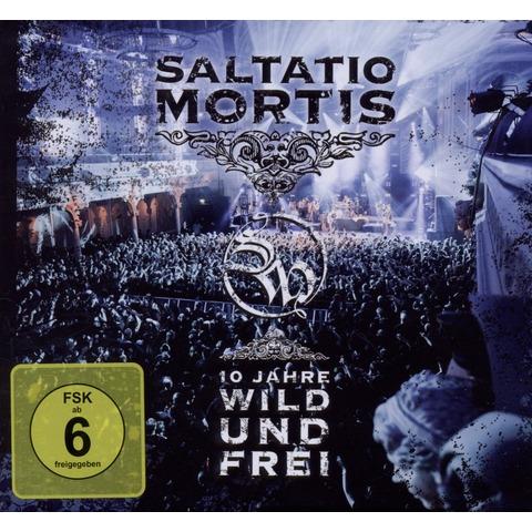 √10 Jahre Wild Und Frei von Saltatio Mortis - CD + DVD Video jetzt im Bravado Shop