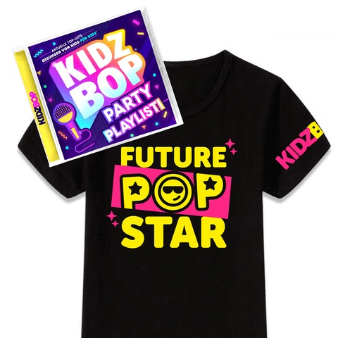 KIDZ BOP Party Playlist (Tolles Bundle: CD + T-Shirt) von KIDZ BOP Kids - CD Bundle jetzt im Bravado Shop