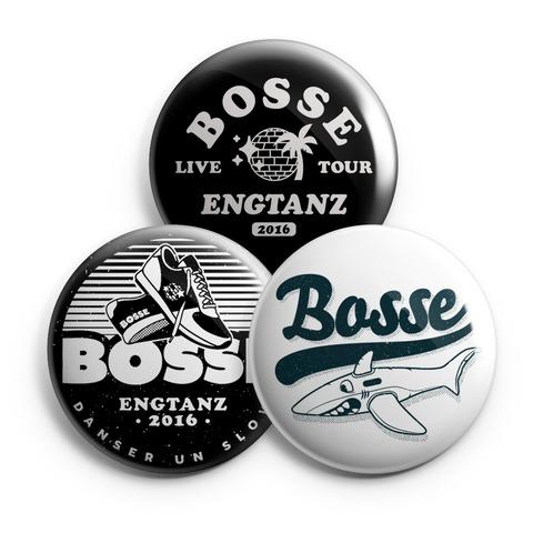 √Engtanz von Bosse - 3-piece button set jetzt im Bravado Shop