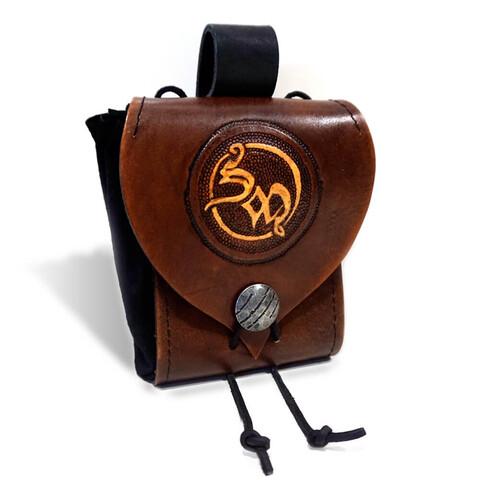 √SM Logo von Saltatio Mortis - Leder Gürtelbeutel jetzt im Bravado Shop