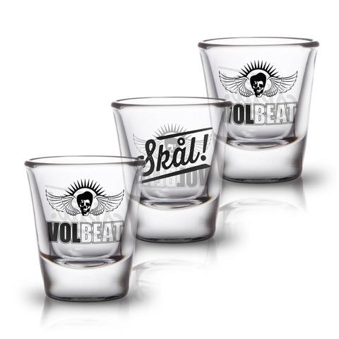 √Skal von Volbeat - 3er Set Shot Glas jetzt im Bravado Shop