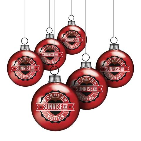 Forever Yours Emblem von Sunrise Avenue - Weihnachtskugeln 6-er Set jetzt im Bravado Shop