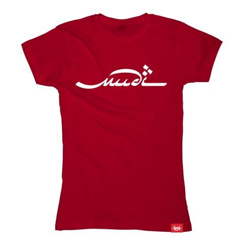 Logo White On Red von Mudi - Girlie Shirt jetzt im Bravado Shop