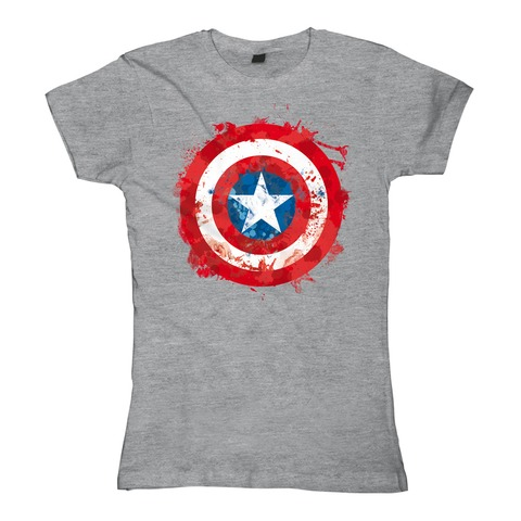 Captain America - Sprayed Shield von Marvel Comics - Girlie Shirt jetzt im Bravado Shop