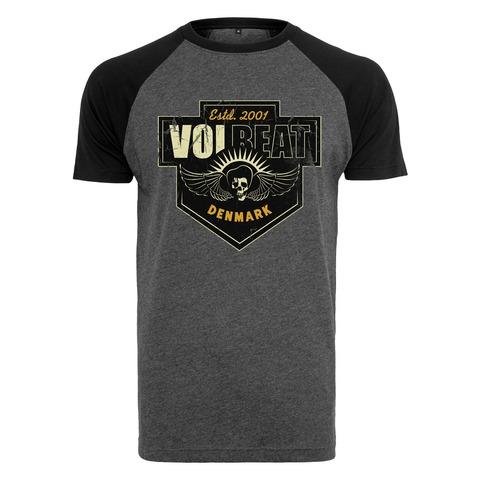 √Cross Crest Raglan von Volbeat - T-Shirt Raglan jetzt im Bravado Shop