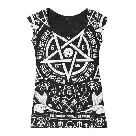 Occult Allover von Mera Luna Festival - Girlie Shirt jetzt im Bravado Shop