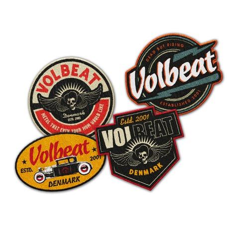 √Logo Patch Set von Volbeat - Aufnäher-Set 4er jetzt im Bravado Shop