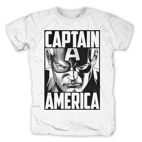 Captain America - Furious Face von Marvel Comics - T-Shirt jetzt im Bravado Shop