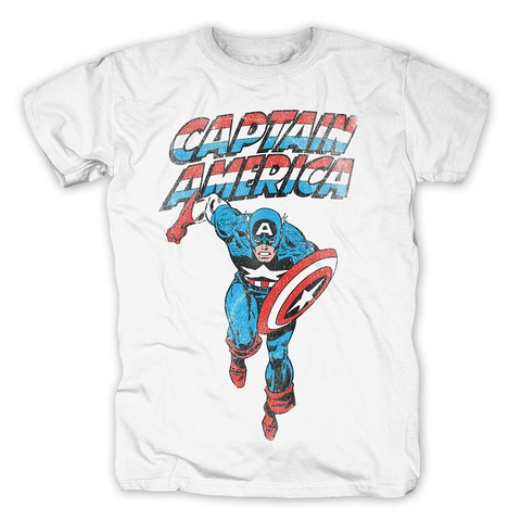 √Captain America - On The Run von Marvel Comics - T-Shirt jetzt im Bravado Shop