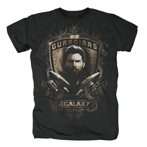 Star Lord Shield von Guardians of the Galaxy - T-Shirt jetzt im Bravado Shop