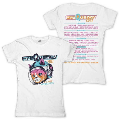 Space Cat von Frequency Festival - Girlie Shirt jetzt im Bravado Shop