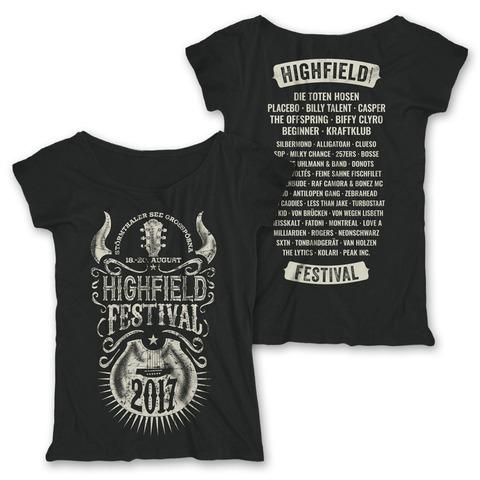 Horny Guitar von Highfield Festival - Girlie Shirt jetzt im Bravado Shop