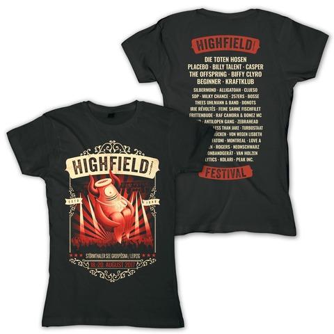 √Stagediver von Highfield Festival - Girlie Shirt jetzt im Bravado Shop