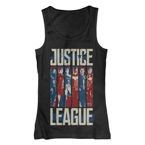 Character Stripes von Justice League - Girlie Tank Top jetzt im Bravado Shop
